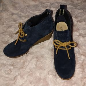 Sperry Celest Prow Wedge Ankle Boots
